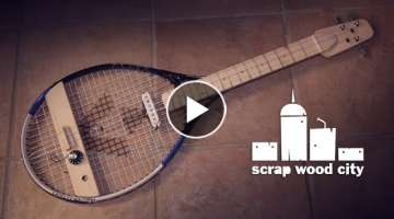 DIY tennis racket electric guitar