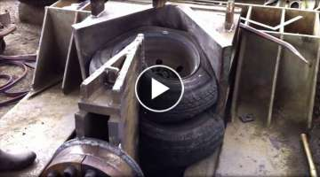 Crush rubber tires and everything | Crushing capacity is amazing