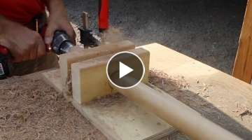 How to make a large dowel
