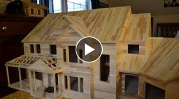 Building Popsicle Mansion Time Lapse HD