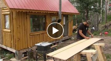 Alaska Cabin Project, Kitchen Cabinets, Counter Top, & Sink