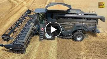 Mähdrescher Fendt IDEAL 8 - 10,7 m on Tour in Germany - new big combine harvester wheat harvest ...