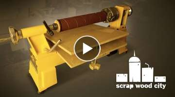 How to convert the lathe into a DIY drum sander