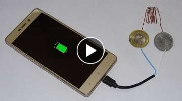 How to Charge mobile using coins II Awesome life hack II