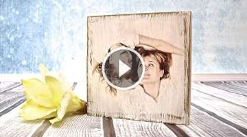 How to do a photo on a wooden board