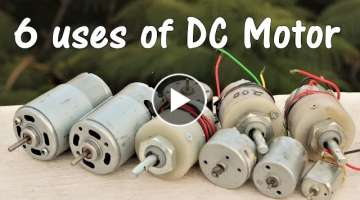 6 useful things from DC motor - DIY Electronic Hobby