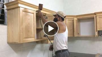 How To Installation Full Kitchen Cabinets Wall Mounted