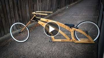 Building the most awesome handmade badass wooden chopper bike