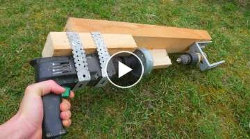 How To Make LATHE With Drill DIY