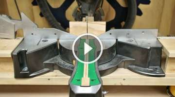How To Make A Zero Clearance Insert For The Miter Saw