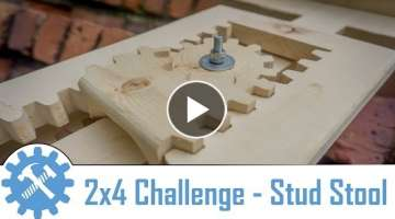 Make this amazing shop stool out of a single 2' x 4' ! - 2x4 Challenge
