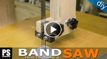Making a homemade Band Saw (part3 / blade guides)