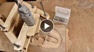 How to Make a Pantograph Router/ Power Carving Tool at Home |DIY|