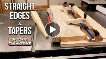 Straight Edges and Tapers on the Table Saw - PLANS INCLUDED!