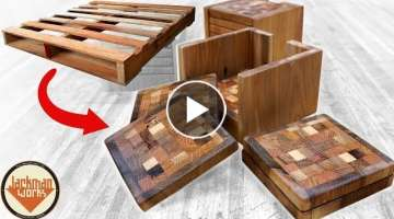 Pallet Wood End Grain Coasters