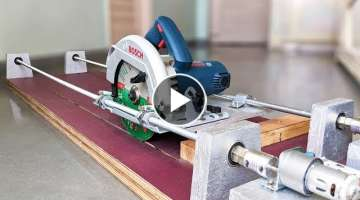 How to Make a Motorized Sliding Saw at home