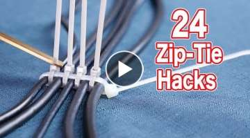 24 Clever Zip Tie Hacks Make Your Life Easier