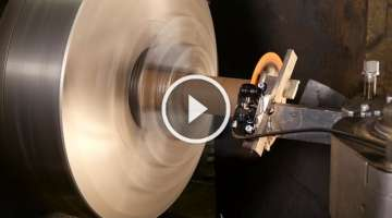 Ultimate bicycle disc brake test with large lathe