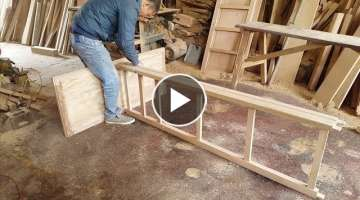 Woodworking Skills Very Smart of Carpenter - How To Build Wardrobe Extremely Fast and Simple