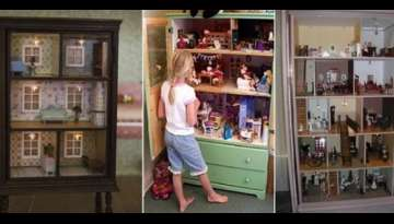 Turn An Old Dresser Into A Doll House