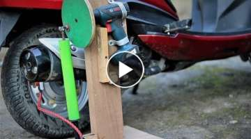 Drill Machine Hacks, How to Make a Mini Air Compressor |DIY |
