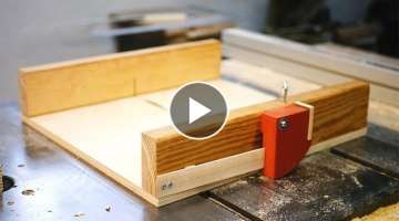 Cross Cut Sled w/ Finger Joint Jig Insert
