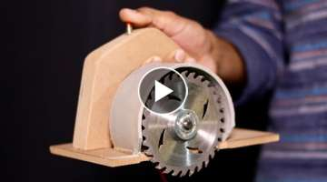 WOW! Amazing DIY Circular Saw From DC Motor