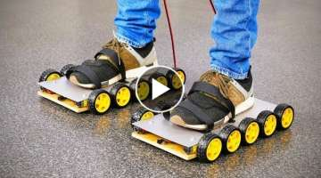 DIY Electric Roller Skate Shoes at Home
