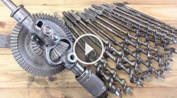 Restoring Old Woodworking Tools + Breast Drill