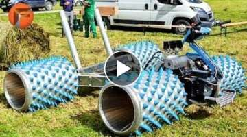 HUGE Lawnmower mows grass like a Mad Machine