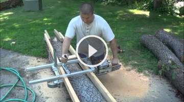 ALASKAN MKIII. Chainsaw Milling Attachment. Assembling and then Cutting Boards.