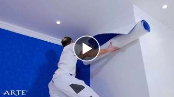 How to hang 3D wallpaper