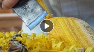 Carving A Spatula From An Osage Orange Stump