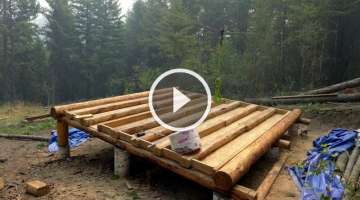 Off Grid Log Cabin Build - Floor Construction