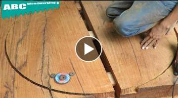 Woodturning - Skill Extreme Tools Build Biggest Board wooden Make A Big Circles