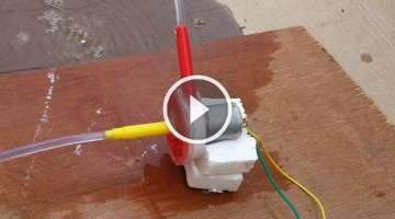 How to Make an Electric Water Pump from Trash - DIY