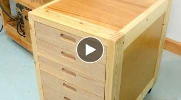 Making drawers with recessed handles