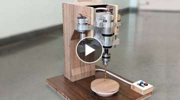 How to Make an Automatic Drill Press Machine at Home - New Concept