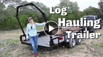 Building A Log Hauling Trailer