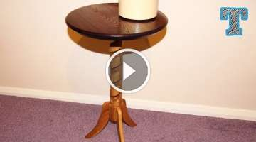Spiral Column Pedestal Table