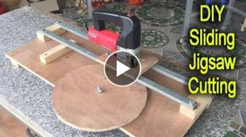 Amazing Woodworking DIY Sliding Jigsaw Cutting Station Smart Idea Woodworking Project