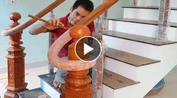 Creative Woodworking Projects - Installing an Over-the-Post Handrail