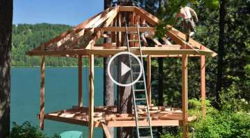 Treehouse Build Timelapse