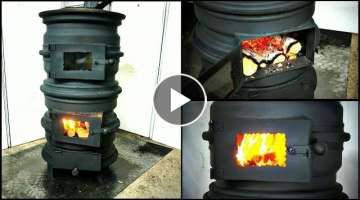 Wood Stove from Car rims DIY