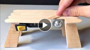 How to Make a Table Saw Machine - Miniature Cutting Tool - Very Powerful