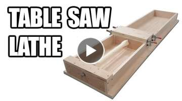 How to Build a Table Saw Lathe (Tenoner / Dowel Maker)