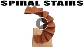 Making A Spiral Stairs Model / Sculpture