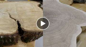 How to repair a crack in a wood slab