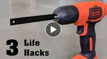 3 Amazing Life Hacks of Hacksaw !