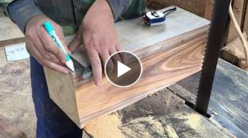Amazing Skills Woodworking Extremely High Technical To Create Masterpiece Hand-Crafted, How To, D...